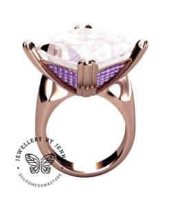 rosa morganit och lila diamanter