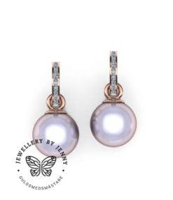 örhängen pärlor och diamanter