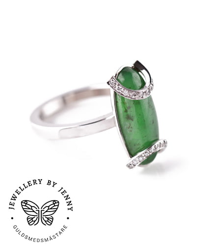 Ring i art deco stil