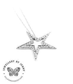 Hängsmycke stjärna med diamanter