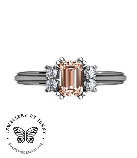 ring i vitguld med imperial topas och diamanter