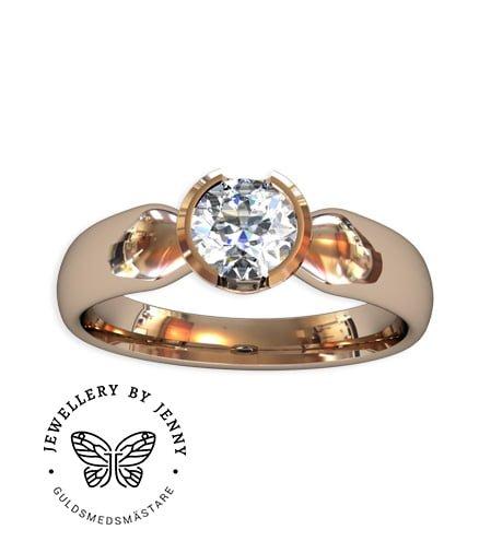 enstensring briljantslipad diamant