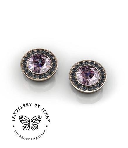 örhängen med svarta diamanter