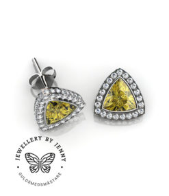 Vackra örhängen med diamanter