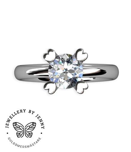 vigselring diamant