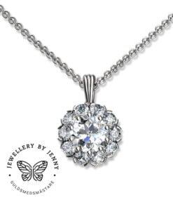 diamant halssmycke