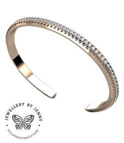 diamantarmband roséguld